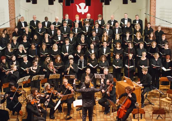 Foto der Cantorei beim Konzert