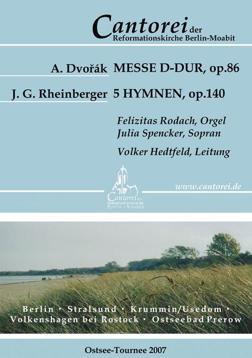 Flyer Ostsee-Tournee 2007