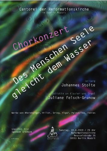 Plakat Chorkonzert Ostsee 2019