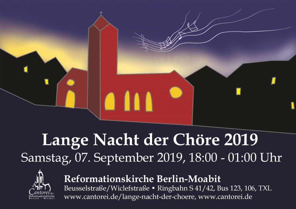 Flyer 15.Lange Nacht der Chöre 2019
